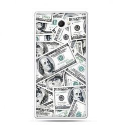 Sony Xperia M2 etui banknoty dolary