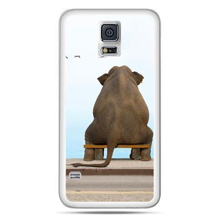 Galaxy S5 Neo etui zamyślony słoń