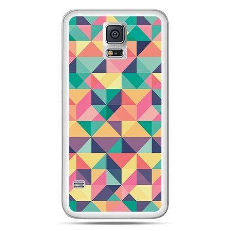 Galaxy S5 Neo etui kolorowe trójkąty