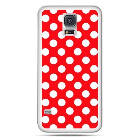 Galaxy S5 Neo etui czerwona polka dot