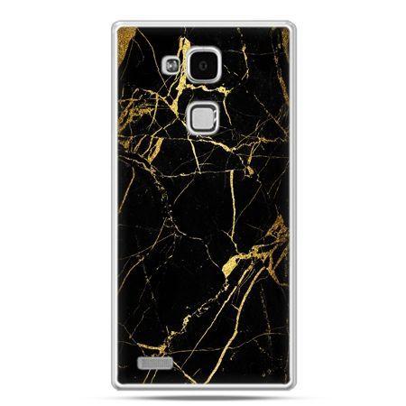 Etui na Huawei Mate 7 złoty marmur