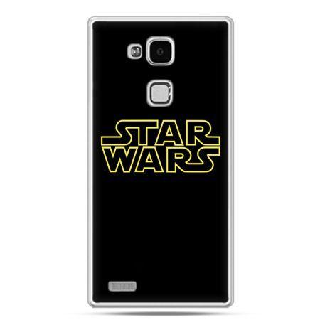 Etui na Huawei Mate 7 Star Wars złoty napis