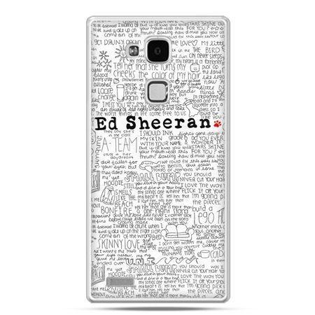 Etui na Huawei Mate 7 Ed Sheeran białe poziome