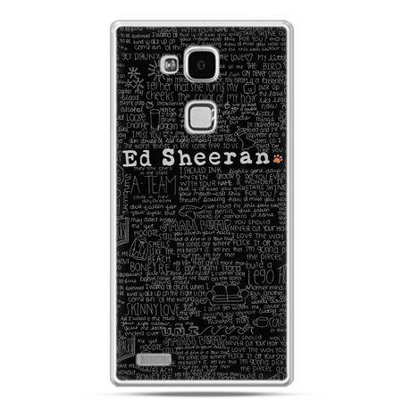 Etui na Huawei Mate 7 ED Sheeran czarne poziome