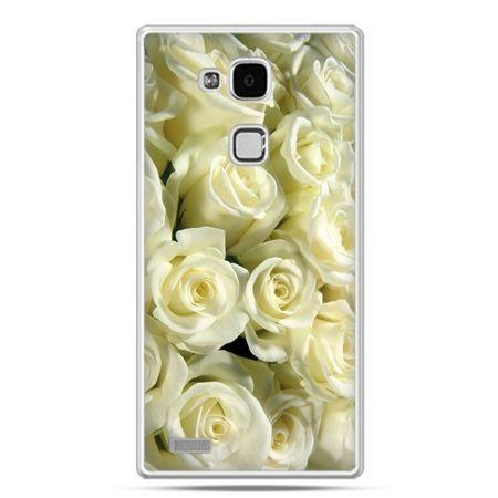 Etui na Huawei Mate 7 białe róże