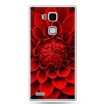 Etui na Huawei Mate 7 czerwona dalia