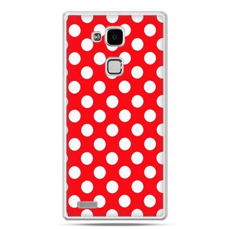 Etui na Huawei Mate 7 czerwona polka dot