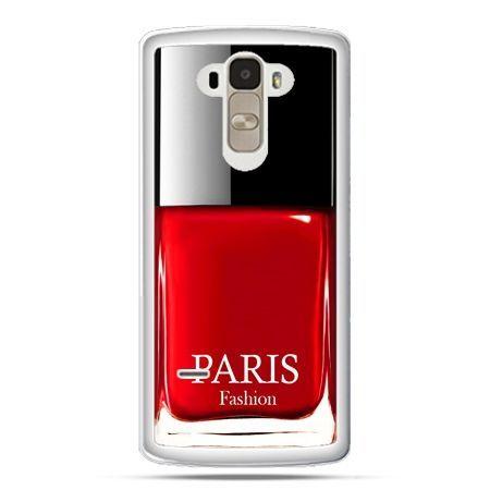 Etui na LG G4 Stylus lakier do paznokci czerwony