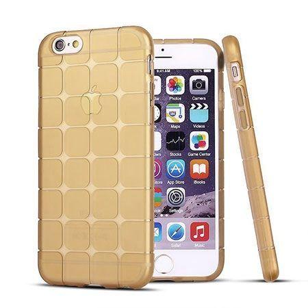 iPhone 6 Plus CubeProtect etui silikonowe przezroczyste złote. PROMOCJA!!!