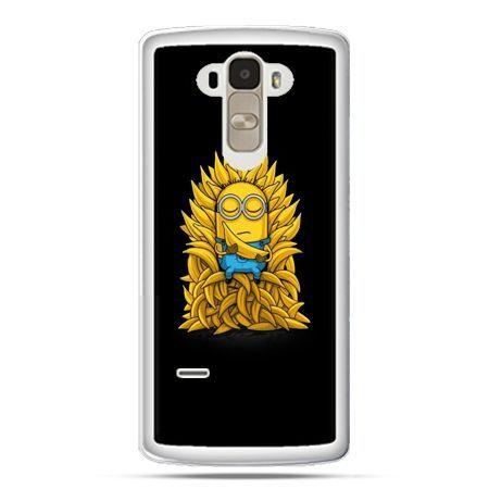 Etui na LG G4 Stylus Minionek na tronie ,minionki