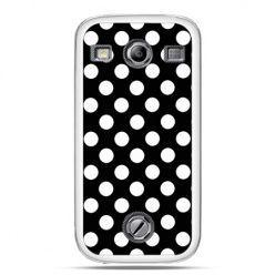 Samsung Xcover 2 etui Polka dot czarna