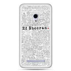 Zenfone 5 etui Ed Sheeran białe poziome