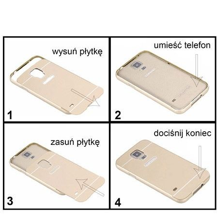 Samsung Galaxy A5 2015 etui aluminium bumper case złoty.