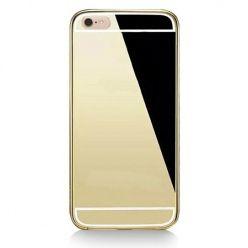 iPhone 6, 6s mirror etui aluminium bumper case złoty lustro.