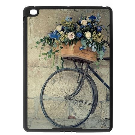 Etui na iPad Air case rower z kwiatami