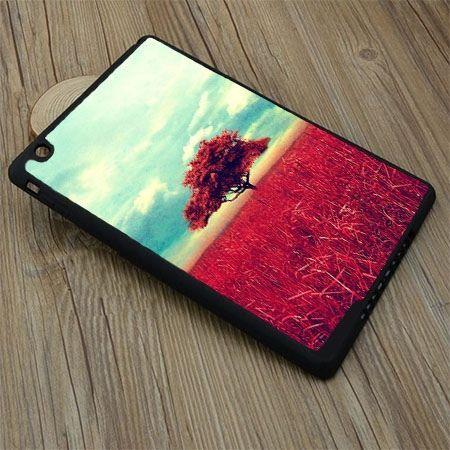 Etui na iPad mini case czerwone drzewo