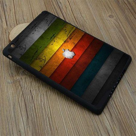 Etui na iPad mini case kolorowe pasy z logo apple