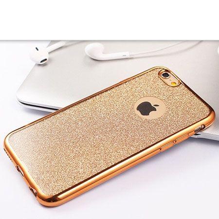 iPhone 6 etui brokat silikonowe SLIM tpu złote.