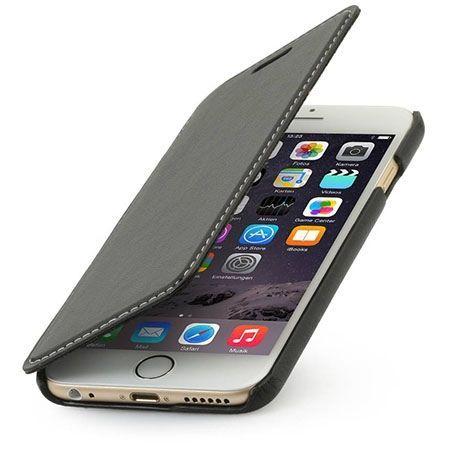 Stilgut iPhone 6 Plus skórzane etui BOOK z klapką czarne.