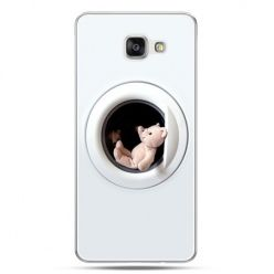 Galaxy A7 (2016) A710, etui na telefon miś w pralce