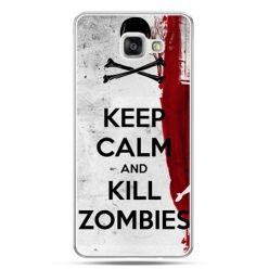 Galaxy A7 (2016) A710, etui na telefon Keep Calm and Kill Zombies