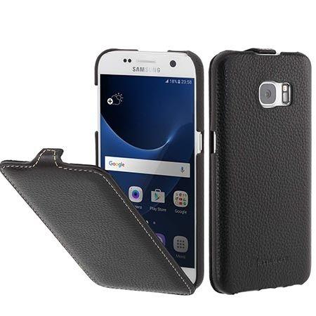 Pokrowiec na Galaxy S7 Stilgut Ultraslim skóra czarny.