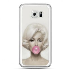 Etui na telefon Galaxy S7 Monroe z gumą balomową