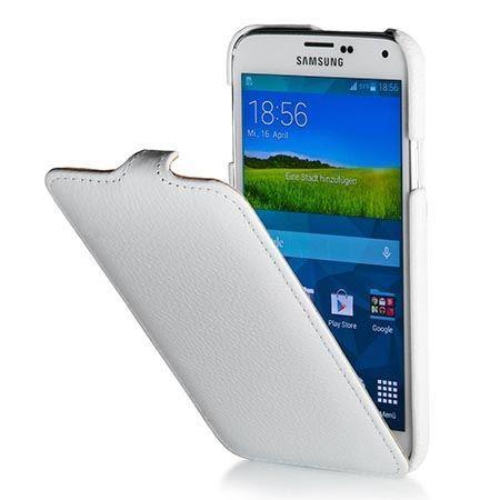 Pokrowiec na Galaxy S5 Stilgut Ultraslim skóra biały. PROMOCJA!!!