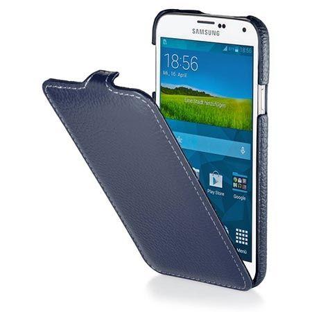 Pokrowiec na Galaxy S5 Stilgut Ultraslim skóra niebieski.