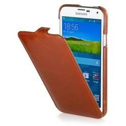 Pokrowiec na Galaxy S5 mini Stilgut Ultraslim skóra brązowy.