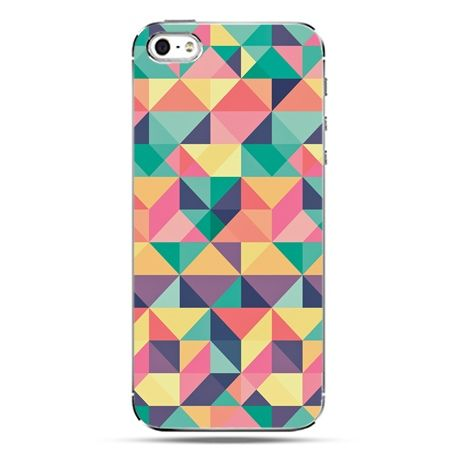 iPhone SE etui na telefon kolorowe trójkąty