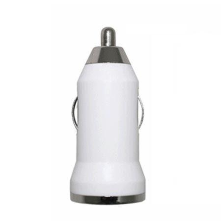 Ładowarka samochodowa USB, 1A biała.