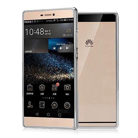 Huawei P8 Lite etui silikonowe platynowane SLIM tpu - srebrny.