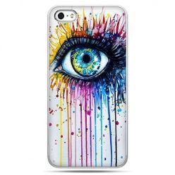 Etui na telefon kolorowe oko, pastele.