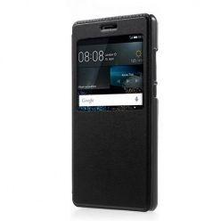 Huawei P8 Lite etui Flip S View z klapką - czarny.