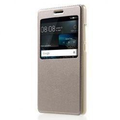 Huawei P8 Lite etui Flip S View z klapką - złote.