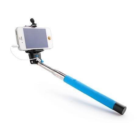 Kijek do Selfie monopod, wysięgnik z kabelkiem - niebieski.
