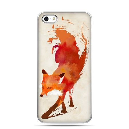 iPhone 5 , 5s etui na telefon lis watercolor