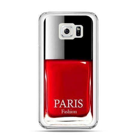 Etui na Galaxy S6 Edge lakier do paznokci czerwony