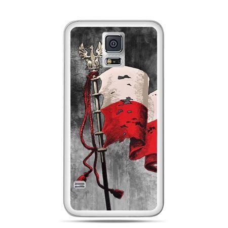 Etui na telefon Galaxy S5 patriotyczne - flaga Polski