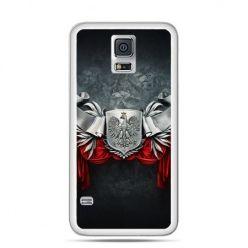 Etui na telefon Galaxy S5 Neo patriotyczne - stalowe godło