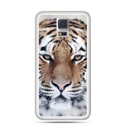 Galaxy S5 Neo etui śnieżny tygrys