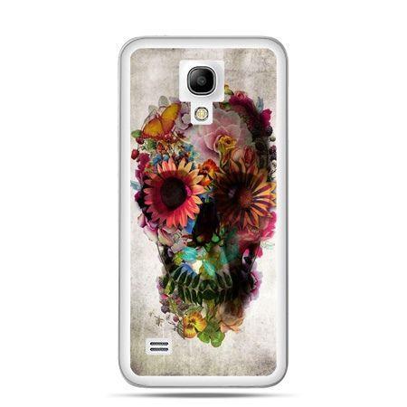 Galaxy S4 mini etui czaszka z kwiatami