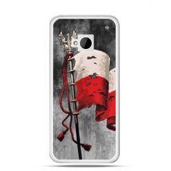 Etui na telefon HTC One M7 patriotyczne - flaga Polski