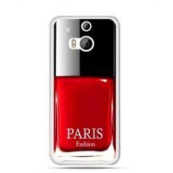 Etui na HTC One M8 lakier do paznokci czerwony