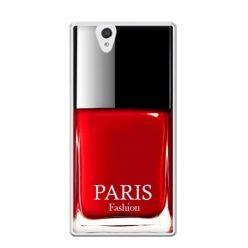 Etui na Xperia Z lakier do paznokci czerwony