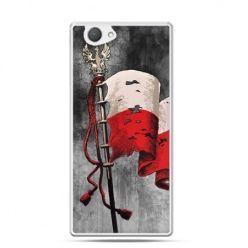 Etui na telefon Xperia Z1 compact patriotyczne - flaga Polski