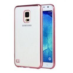 Samsung Galaxy S5 przezroczyste etui platynowane SLIM różowe.