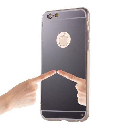 iPhone 5 / 5s lustro - mirror, silikonowe elastyczne TPU - czarne.