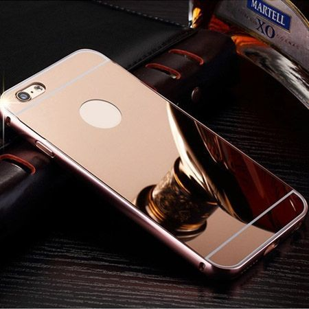 iPhone 6, 6s mirror etui aluminium bumper case (Rose Gold)  lustro - Różowy
